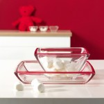 Corner Bowls Red (Medium)