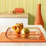 Corner Dish Orange (Medium)