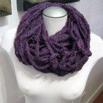 Knitted Neck Lace Purple (Medium)