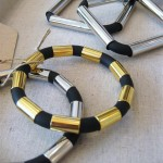 Rubber Bangles with Metal Beads (Medium)