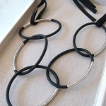 Rubber & Metal Loop Necklace (Medium)