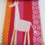 Baby Blanet_Pink Giraffe (Medium)
