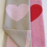 Baby Blanket_Striped Heart (Medium)