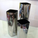 Chrome Vase Grouping (Medium)