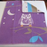 Designer Baby Blanket_Purple Owl (Medium)