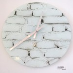 Glass Brick Wall Clock (Medium)