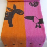Kids Blanket LG_Orange&Pink Donkey (Medium)