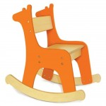 Rocking Chair Giraffe Orange (Medium)